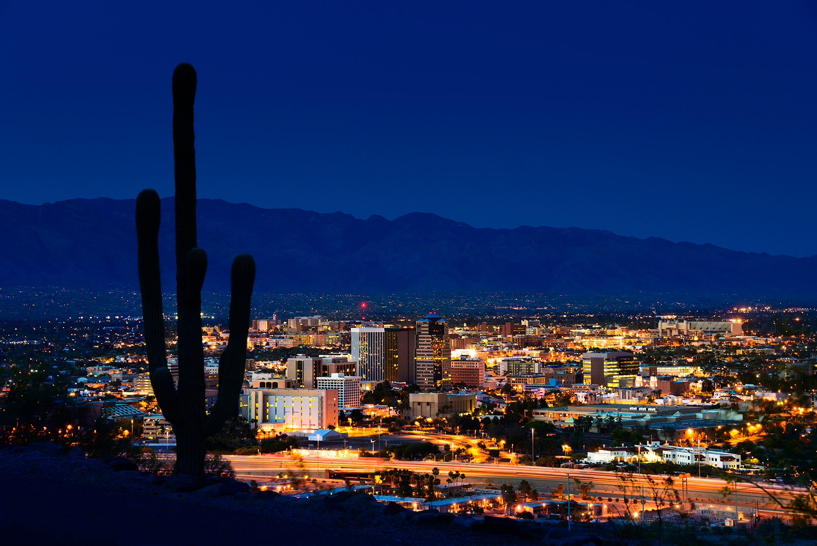 Arizona city view at night.