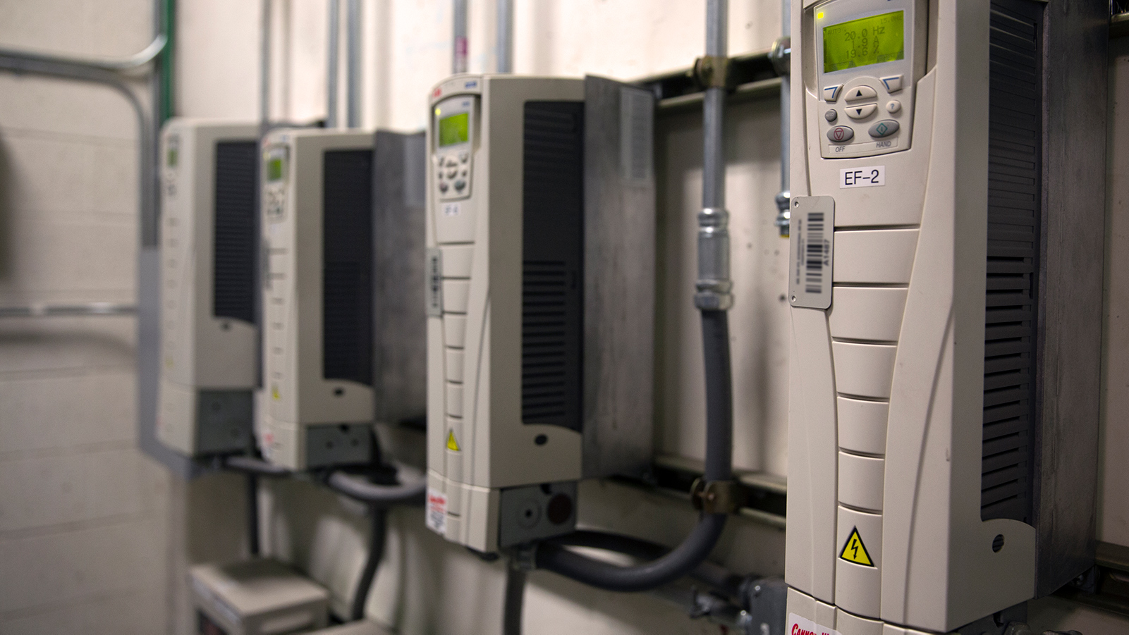 Variable speed drives.