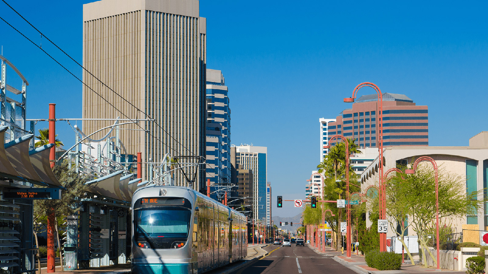 Downtown Phoenix light rail station.