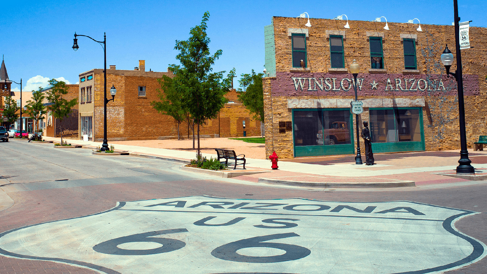 Route 66 sign in Winslow, Arizona